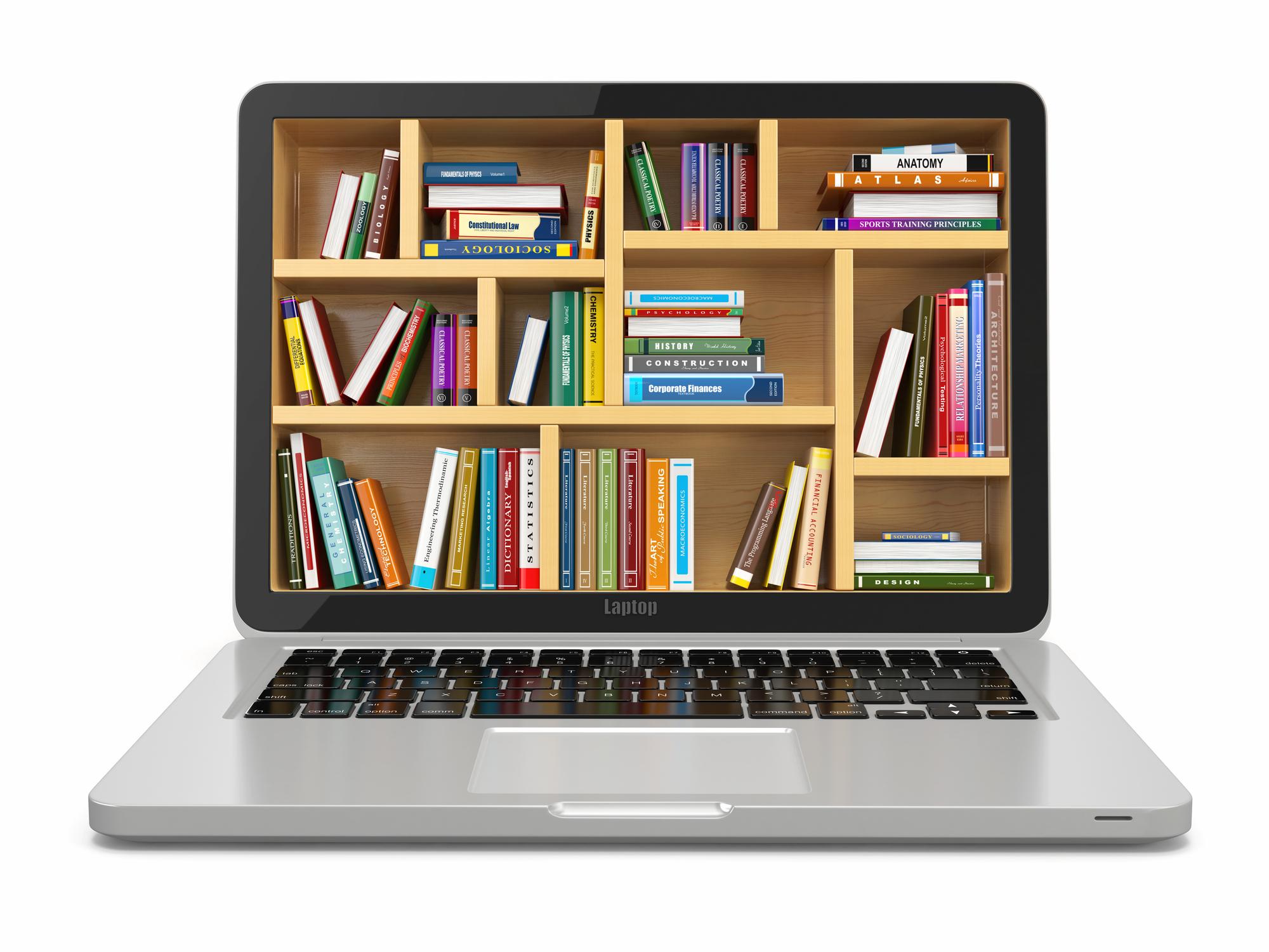 Webshops für elektronische Bücher